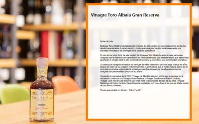 Vinagre Toro Albalá Gran Reserva